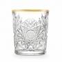 Viski (vee) klaas 35 cl, kuldne äär