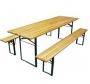 Õllemööbel -  laud 220x50 cm, 2 pinki 220x27 cm
