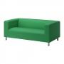Diivan, 3-kohaline, 180x88 cm, roheline