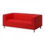 Diivan, 3-kohaline, 180x88 cm, punane