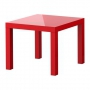 Diivanilaud, 55x55x45 cm, punane